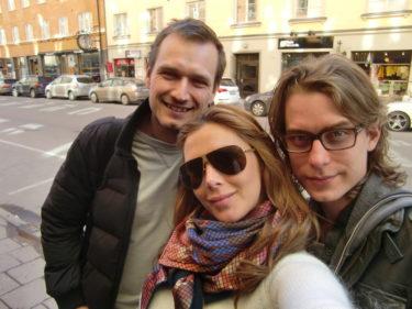 Peter, jag och Rickard.