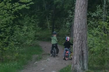 Vi tog en långpromenad och pojkarna cyklade. Blev på ännu bättre humör av det.