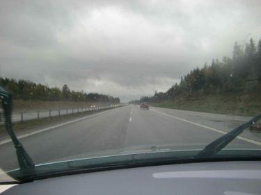 Jag bloggar direkt från bilen :-).