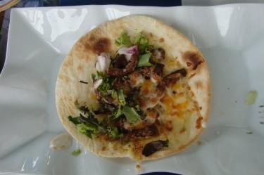 Till middag blev det tacos. Finns en viss risk att vi åt en gammal kamel.