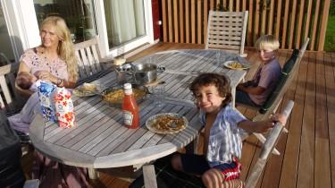 Spaghetti och köttfärssås stod på menyn.