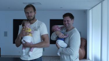 Peter och Martin, två stolta pappor.