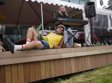 Den tyska sexturist kallade fram många skratt.