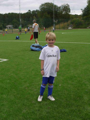 William var laddad inför träningen.