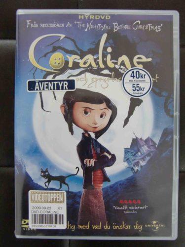 Coraline och Spegels hemlighet, den bygger på Neil Gaimans bästsäljande bok.