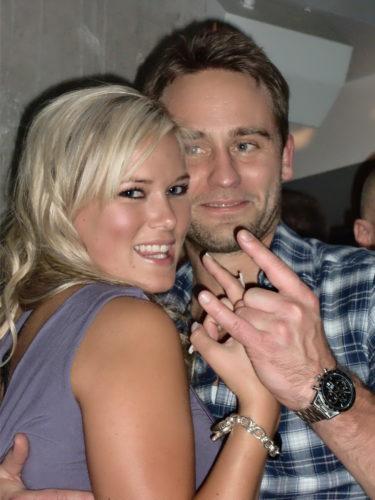Jessica med Tobbe, som vägrar att ställa upp på att jag lottar ut en dejt med honom :-)