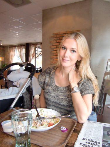 Vi åt lunch på Valvet i Sigtuna innan vi for och storhanlade, till min lycka.