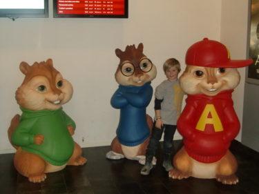 William och Alvin-gänget hängde innan filmen började.