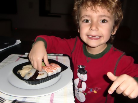 För oss blev det sushi...