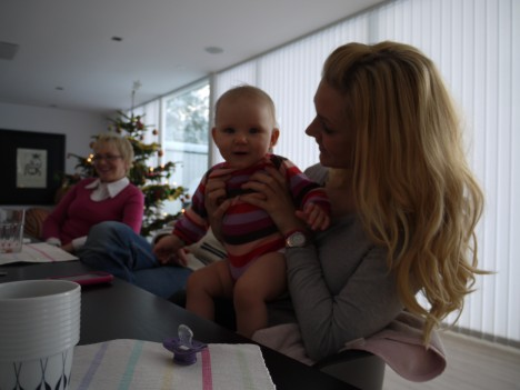 Efter avslutningen så kom mamma och Gunnar på jullunch och firade in jullovet med pojkarna.