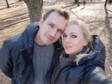 Jag och Peter tog en lång promenad i Central Park på söndagen. Solen sken och det var en vacker dag.