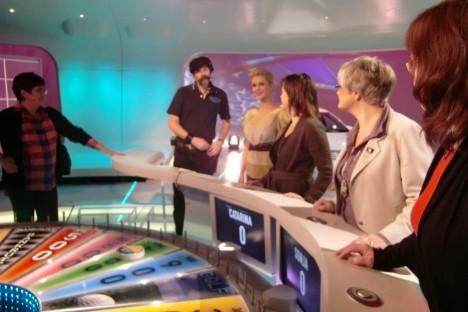 Med vår studioman Rolf och några av dagens tävlande.