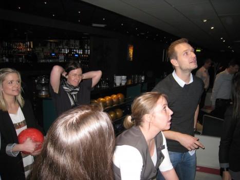 Vi hade även Peter i vårt lag, vilket var bra. Han bidrog med många strikes och en första plats för oss.