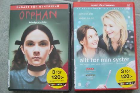 """Såg """"Orphan"""" igår kväll. Läskig men helt ok. """"Allt för min syster"""" blir dagens film. Har du sett den?"""