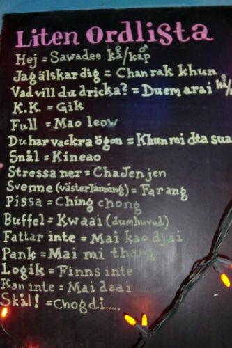 Passade på att lära mig lite thai när jag åt lunch. Sawade kap betyder hej :-)