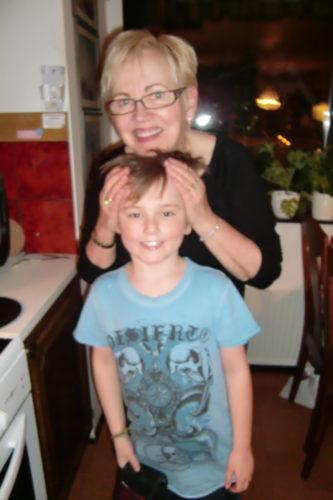 ...och mormor.