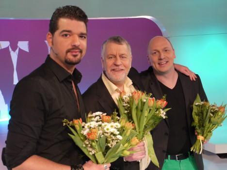 Mysgubben Björn (På spåret) och komikern Lasse snurrade hjul med Daniel. Björn var så gullig.