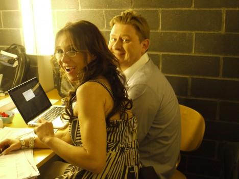 Vi spelade även in två lördagsprogram idag. Hittade kuckilurande Annika och Fredrik i en av logerna.