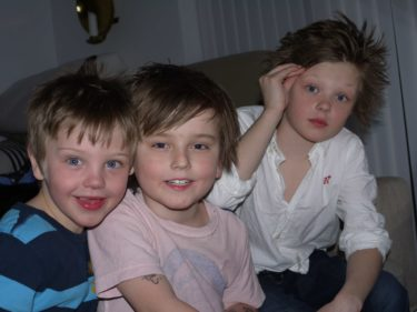 Tristan, William och Lance.