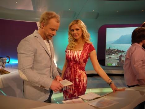 I dagen första program hade jag på mig en somrig klänning från Tiger.