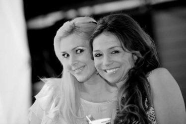 Vackra Annika Jankell och jag goes black and white.