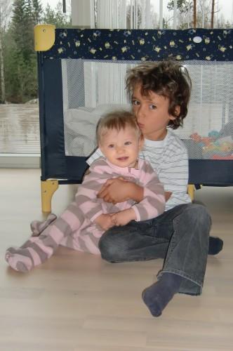 Nu ett år senare så ser man vad stora de blivit båda två :-)