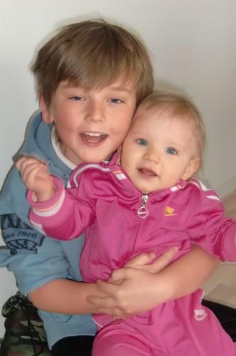 William och Livan ett år senare.