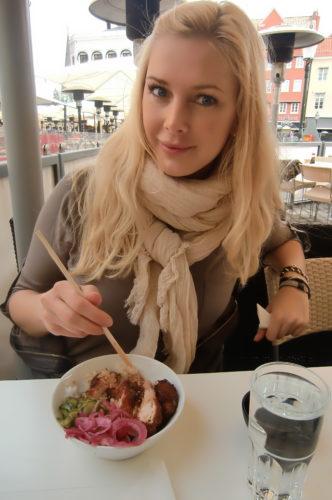 Vi for in till Malmö för shopping och MFF. Lunch på Resaturang Koi blev det först.