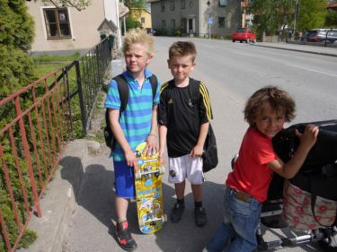 Lance, William och Mio.