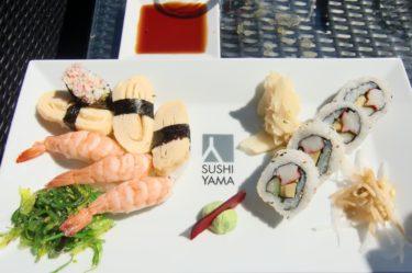 Vi åt god sushi.