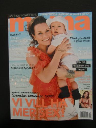 Snygga Linda med dotter på omslaget.