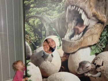Igår när jag satt hos frisören så var barnen på Naturhistoriska Museumet.