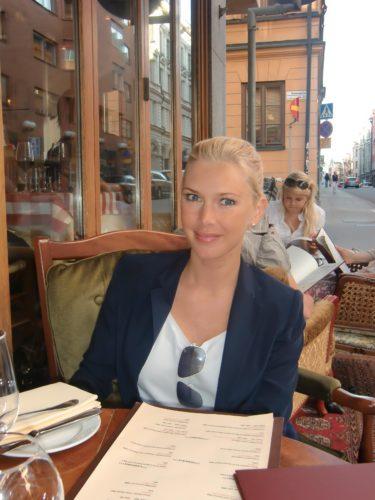 ...och jag på Restaurang Serwito (tror jag att den hette).