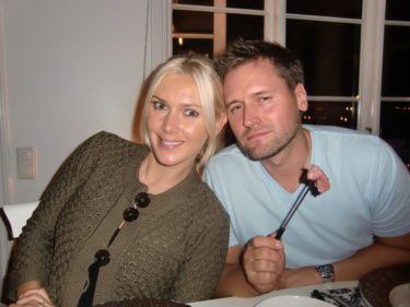 trots den sena kvällen var martin uppe med tuppen och gästade TV4 Nyhetsmorgon.