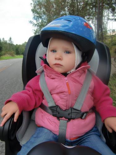 Igår fick Liv sig en liten tur på cykeln.