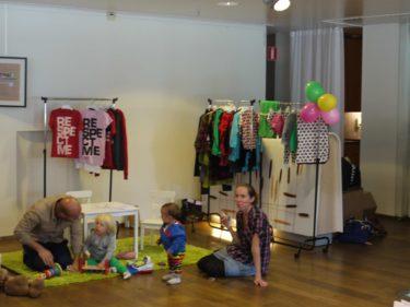 de två tjerena som startade barnklädesmärket Me&I var där och Gravida Cecilia Bkankens fick berätta om deras nya kollektion som hon själv har designat. Jättefina saker.