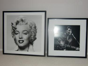 Snygga Marilyn och Elvis.