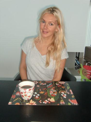 Kaffet kom väl till pass när jag yrvaken satte mig vid frukostbordet...