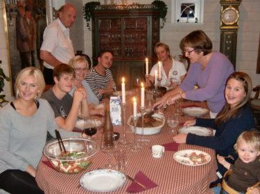 Marianne och Urban hade lagat en god middag och som alltid välkomnade de oss med öppna armar.