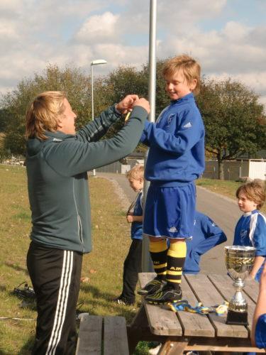 William och alla andar killarna i laget fick medaljer.