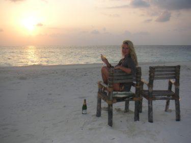 Den otroliga frihetskänslan den där kvällen där vi bodde på en öde ö på Maldiverna...