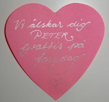 Lite kärlek på Post-it-hjärta.