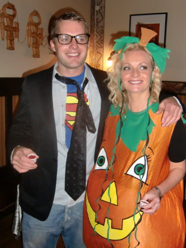 Clark kent och sötaste Halloween-pumpan.