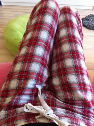 Tänker ha på min mina pyjamisar så länge jag kan.