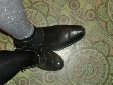 Det skiljer några skostorlekar mellan mig och Magnus.