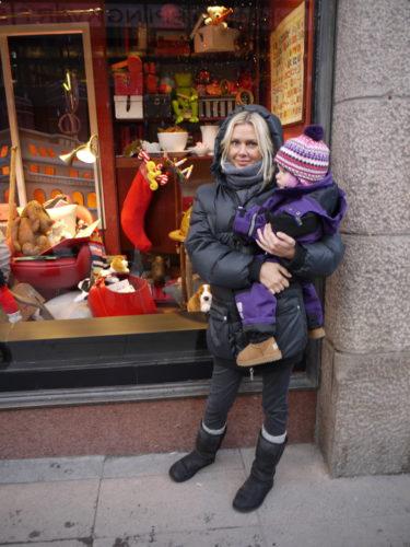 Vi spanade in julskyltningen på NK, men den var tyvärr inte lika rolig och fin som den brukar vara, tycker jag.