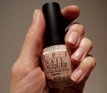 Mitt nagellack kommer från O.P.I och är köpt på Kick´s. Färgen heter Bubble bath. Neutral med svag rosa/beige-ton