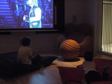 Vi åt middag och tittade på Idol. det blev inget Globen för oss. William och Mio valde faktiskt att se finalen hemma istället.