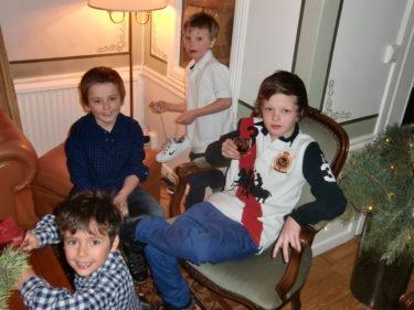 William, Tristan, Mio och Lance.