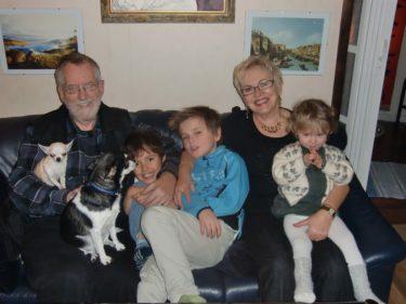 På eftermiddagen for vi hem till mamma och Gunnar för att fira JUUUUL.